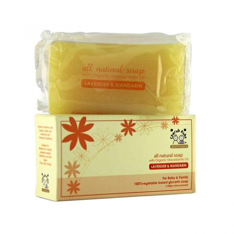 Cherub Rubs Organic Soap Lavender & Mandarin, 100g