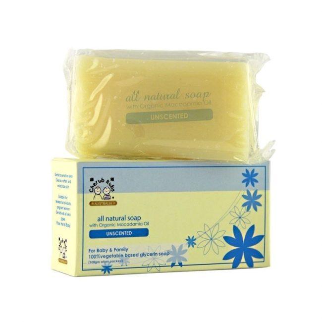 Cherub Rubs Organic Soap Unscented, 100g