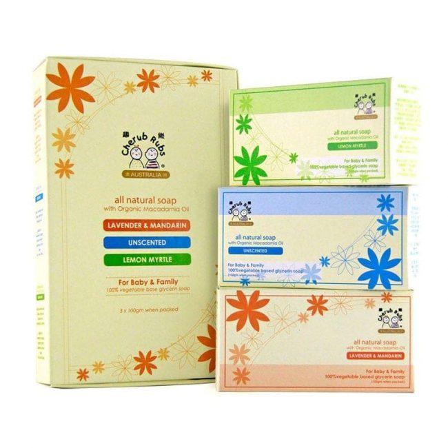 Cherub Rubs Pack of 3 x 100g Soaps