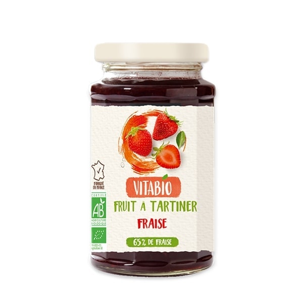 Vitabio Organic Fruit Spread Stawberry, 290g
