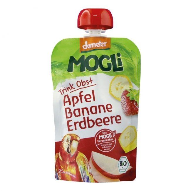 Mogli Organic Moothies - Apple, Banana & Strawberry Smoothie (Demeter), 100g