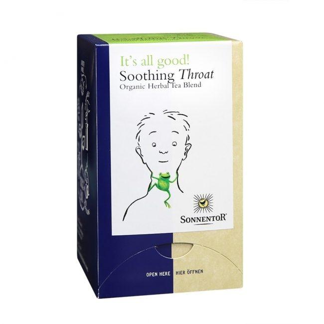 Sonnentor Organic Soothing Throat Tea, 18 tea bags