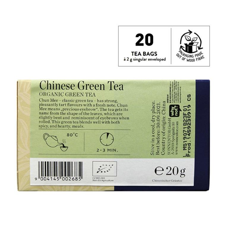 Sonnentor Organic Chinese Green Tea, 20 tea bags