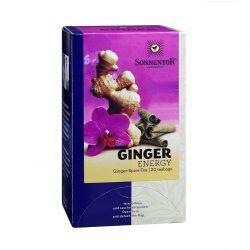 Front view of Sonnentor Ginger Energy tea blend package