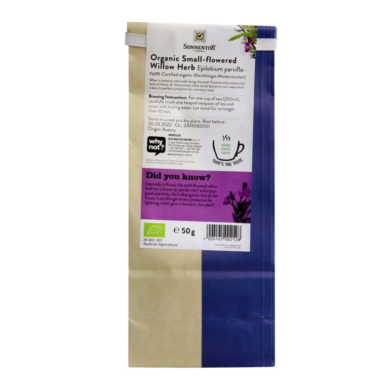Sonnentor Organic Small-Flowered Willow Herb Tea, 50g