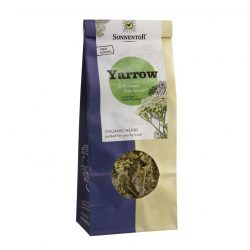 Front view of a packet of Sonnentor Organic Yarrow Tea, 50g