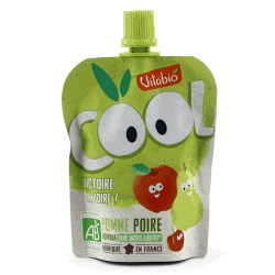 Packet of Vitabio Cool Fruit - Organic Apple & Pear Juice, 90g