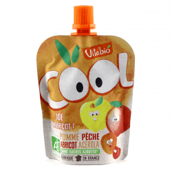 Packet of Vitabio Cool Fruit Organic Apple Peach Apricot Juice, 90g