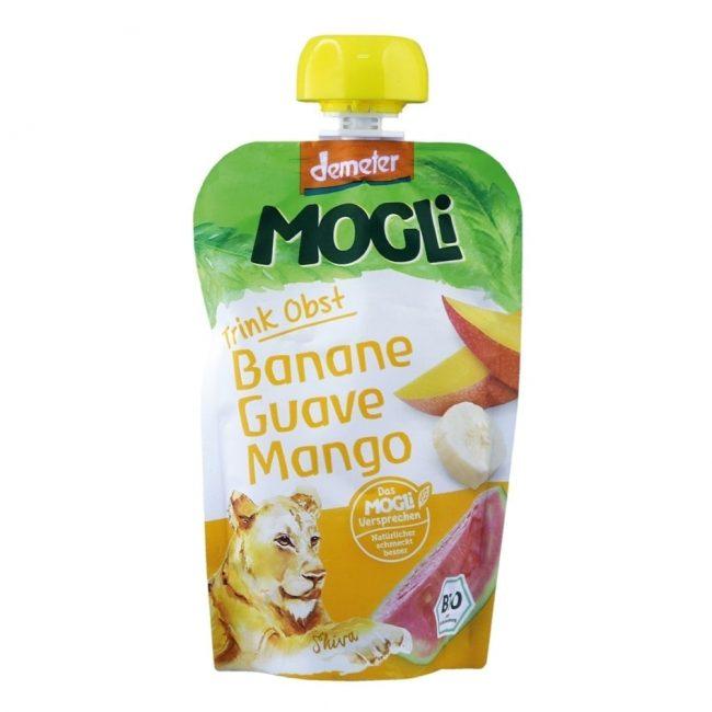 Mogli Organic Moothie - Banana, Guava & Mango Smoothie (Demeter), 100g