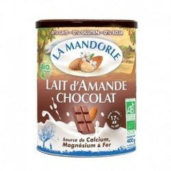 Tin of La Mandorle Organic Almond & Chocolate Instant Powder, 400g