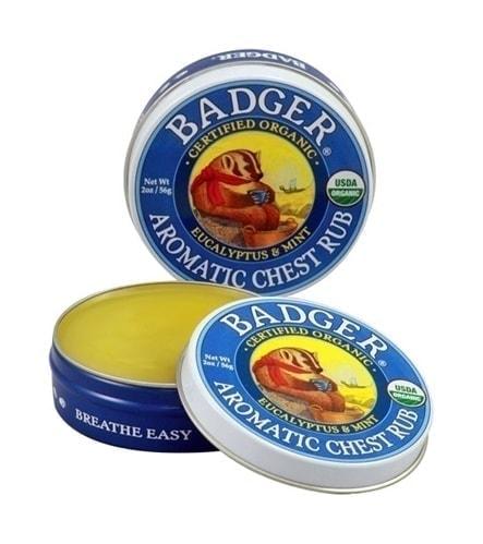 Badger Organic Balm Aroma Chest Rub, 0.75oz
