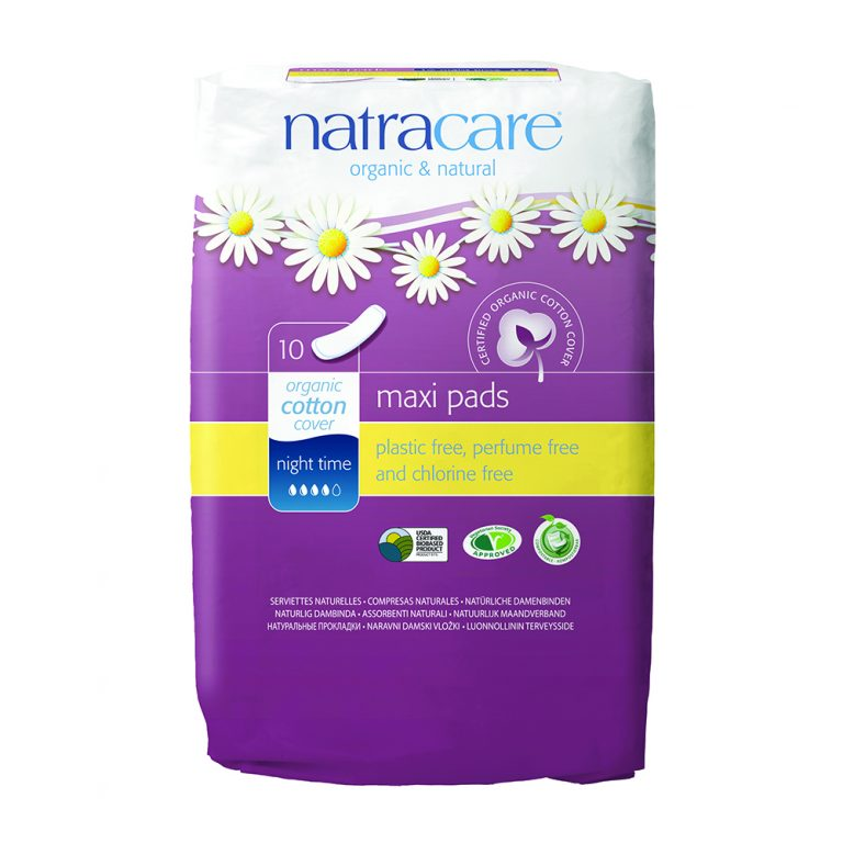 Natracare Natural Maxi Night Time Pads, 10pc