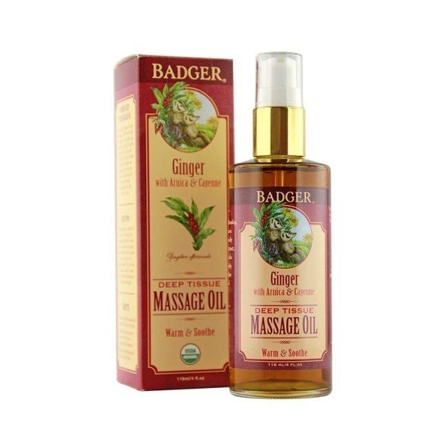 Badger Organic Ginger Massage Oil, 118ml