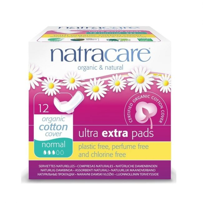 Natracare Ultra Extra Normal Pads, 12pcs
