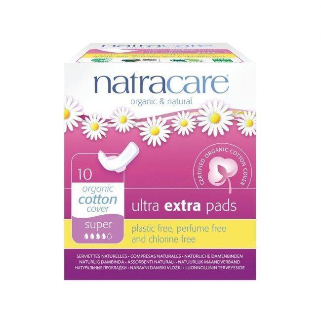 Natracare Ultra Extra Super Pads, 10pcs