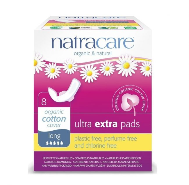 Natracare Ultra Extra Long Pads, 8pcs