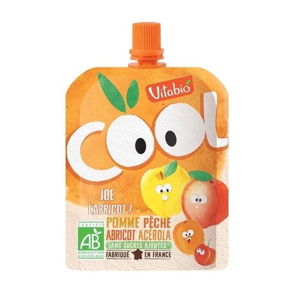 Vitabio Cool Fruit - Organic Apple, Peach & Apricot Juice, 90g