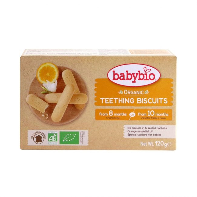 Babybio Organic Teething Biscuits, from 10 months, 120g