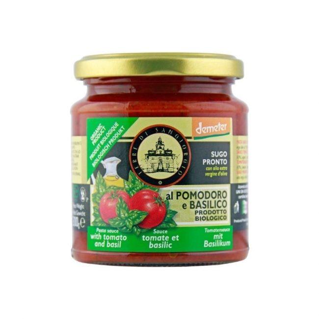 Terre Di Sangiorgio Organic Pasta sauce Tomato with Basil (Demeter), 300g