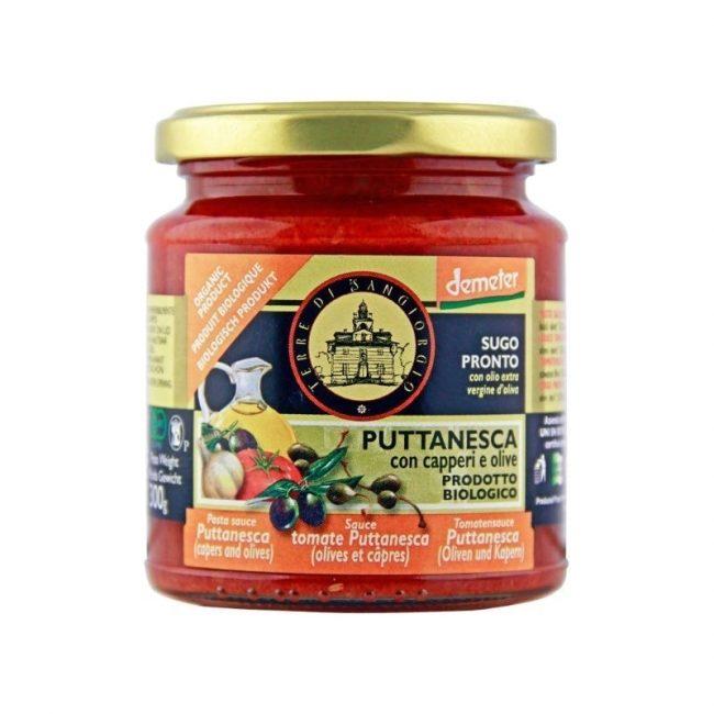 Terre Di Sangiorgio Organic Pasta Sauce Puttanesca (Demeter), 300g