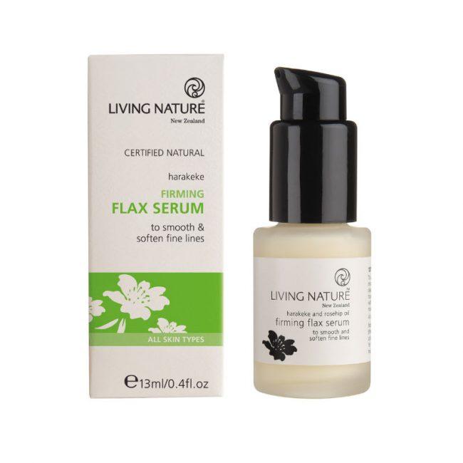 Living Nature Firming Flax Serum, 15ml