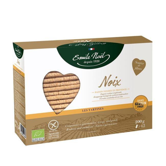 Emile Noel Organic Gluten Free Walnut Crispbread, 200g