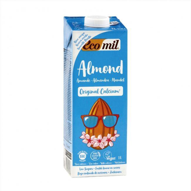 Ecomil Organic Almond Milk Agave Calcium, 1L