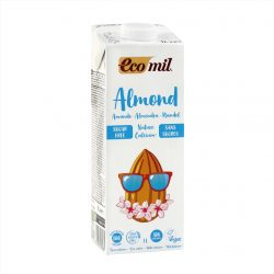 Carton of Ecomil Organic Almond Milk Sugar-free Calcium, 1L