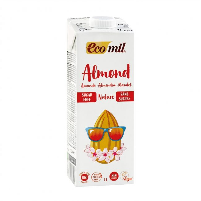 Ecomil Organic Almond Milk Sugar-free, 1L