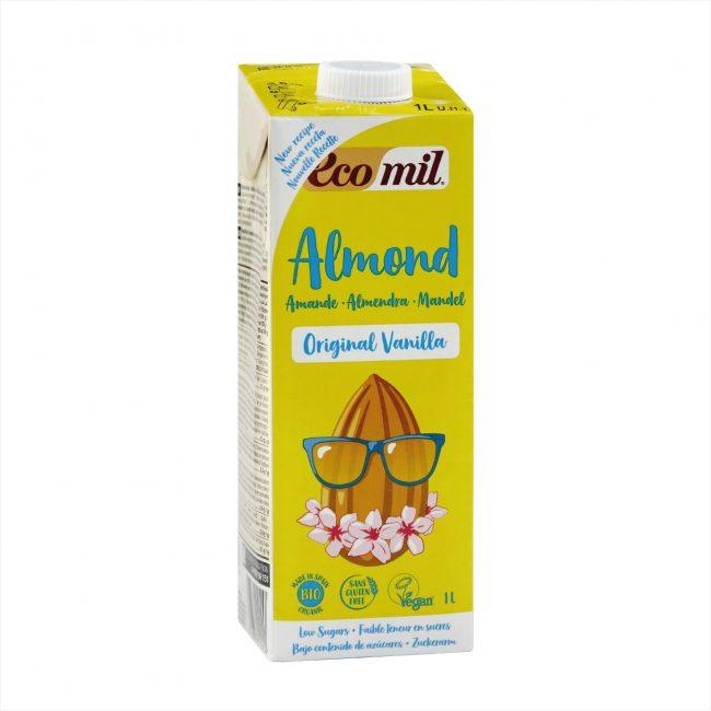 Ecomil Organic Almond Milk Agave Vanilla, 1L