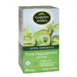 Box of Garden of The Andes Organic Peppermint Tea, 20 bags