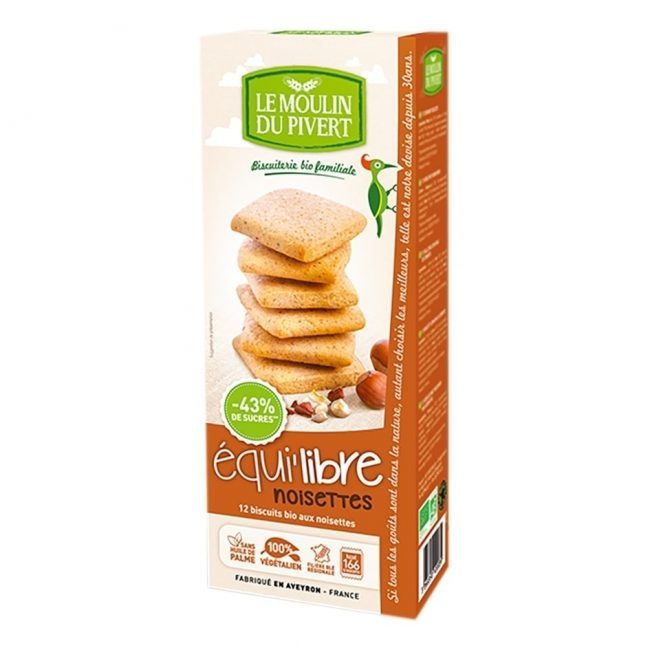 *BUY 1 FREE 1* Le Moulin Organic Biscuits With Hazelnuts, 200g