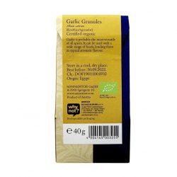 Back view of package of Sonnentor Garlic Granules Herbal Blend