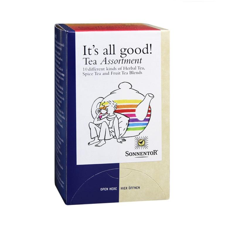 """Sonnentor Organic """"It's all good!"""" Tea Assortment, 20 tea bags"""