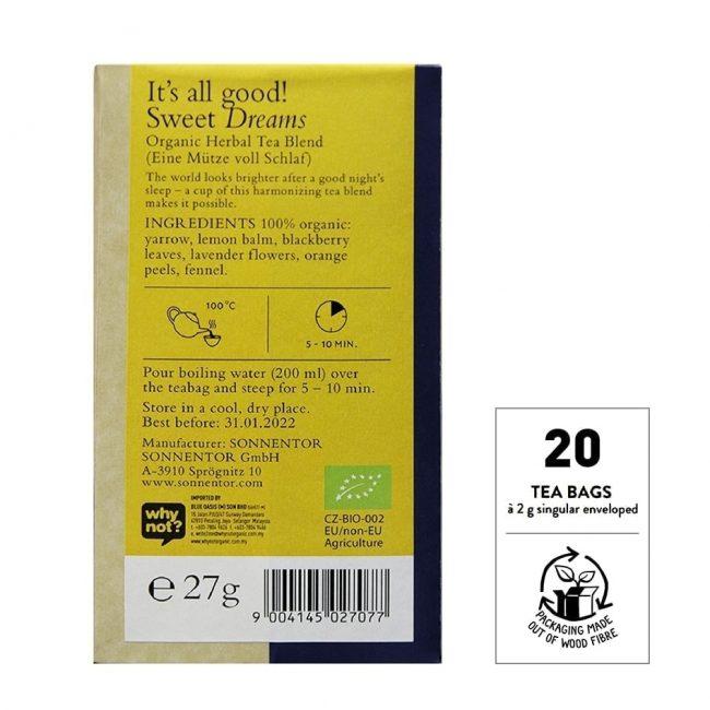 Sonnentor Organic Sweet Dreams Tea, 18 tea bags