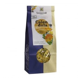 Front view of a packet of Sonnentor Calendula Tea