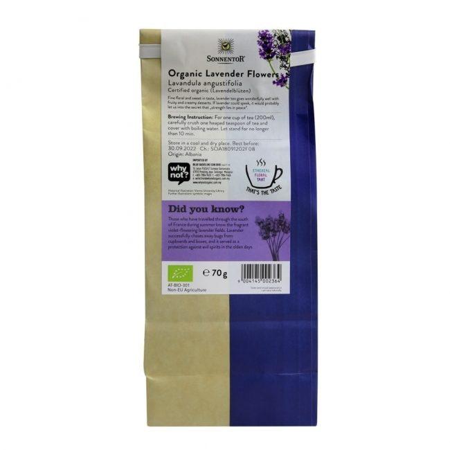 Sonnentor Organic Lavender Flowers Tea, 70g