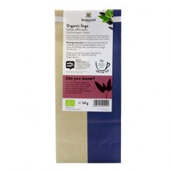 Back view of a packet of Sonnentor Organic Sage Tea, 50g