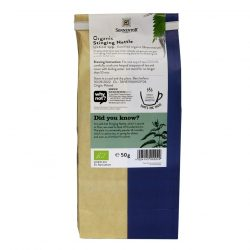 Back view of a packet of Sonnentor Organic Stinging Nettle Tea, 50g