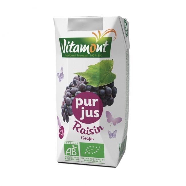 Vitamont Organic Grape Juice, 200ml