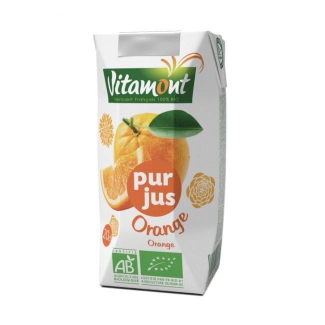 Vitamont Organic Orange Juice, 200ml