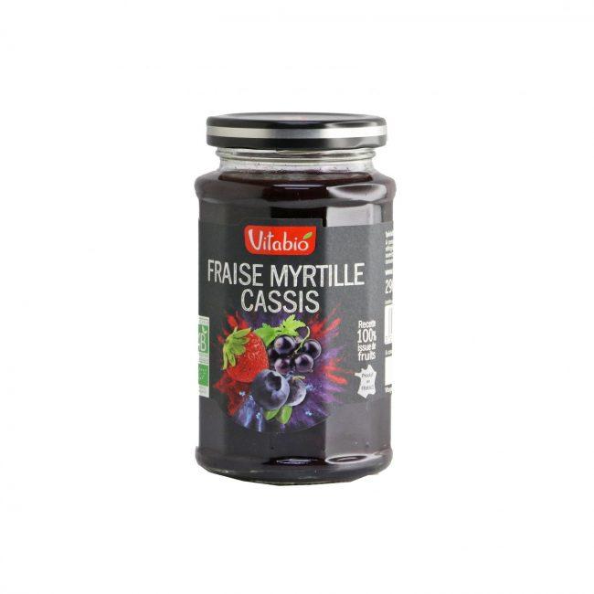 Vitabio Organic Fruit Spread Strawberry-Blueberry-Blackcurrant, 290g