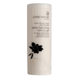 Bottle of Living Nature Organic Extra Hydrating Toning Gel, 100ml