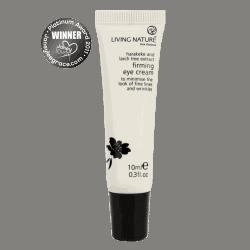 Bottle of Living Nature Organic Firming Eye Cream, 10ml