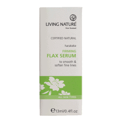 Box of Living Nature Organic Firming Flax Serum, 15ml