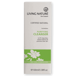 Box of Living Nature Organic Purifying Cleanser, 100ml