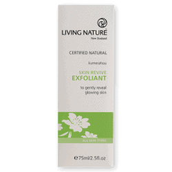 Box of Living Nature Organic Skin Revive Exfoliant, 75ml