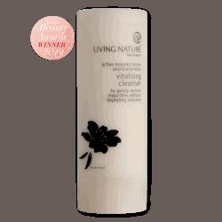 Bottle of Living Nature Organic Vitalising Cleanser, 100ml