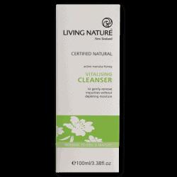 Box of Living Nature Organic Vitalising Cleanser, 100ml