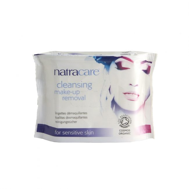 Natracare Cleansing Make-up Remover Wipes, 20pcs